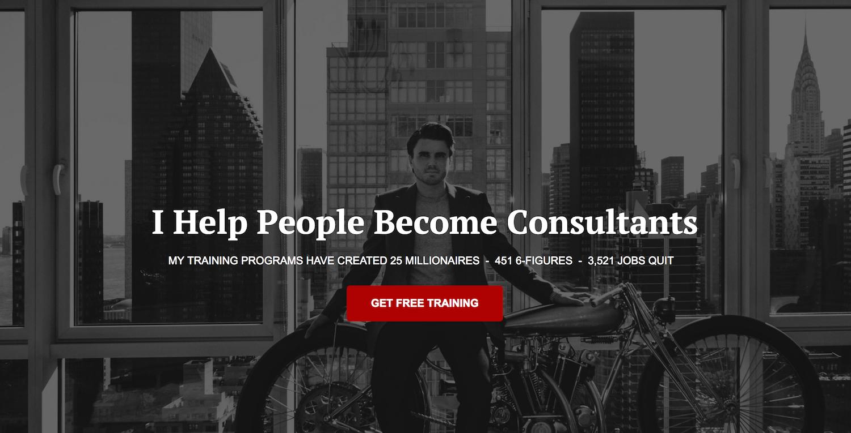 Sam Ovens Online-Kurs Consulting Accelerator von Consulting.com